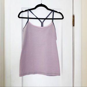 Lululemon Purple/Pink Grey Stripe Power Y Tank 12